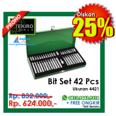 Bit Set 42pcs Tekiro