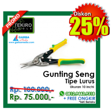 Gunting Seng ( Tipe Lurus )  TEKIRO