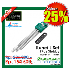 Kunci L Set  9pcs Stubby