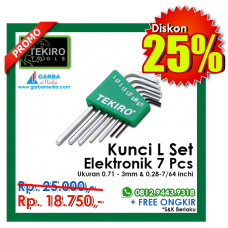 Kunci L Set Elektronik 7pc