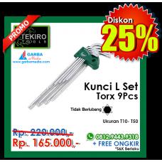 Kunci L Set Torx 9pcs ( Tanpa Lubang )