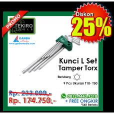 Kunci L Set Tamper Torx  9pcs ( Lubang )