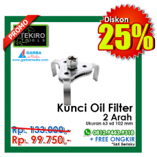 Kunci Oil Filter  2 Arah Tekiro