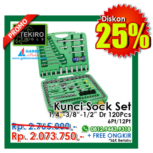 Tekiro Socket Set 120 Pcs 12 Pt New Best Buy Indonesia Source · 120pcs 6 PT