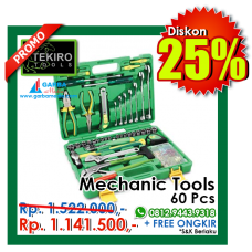 Mecanic Tools 60pcs ( Plastik ) Tekiro